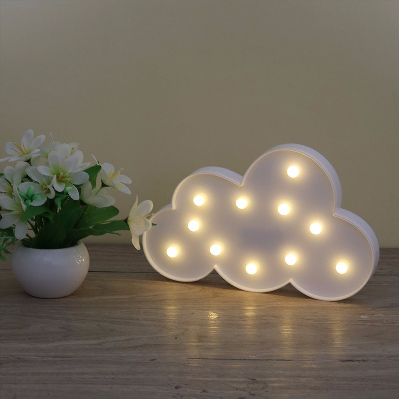 Creative letter clouds led night light for kids gifts 2017 new 3D novelty cartoon clouds table