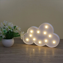 Creative letter clouds led night light for kids gifts 2017 new 3D novelty cartoon clouds table lamp wall lamp for holiday Decor