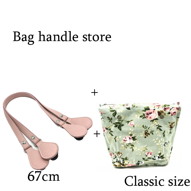 one 1 set classic size accessaries handle and insert inner bag for obag tanqu tela insert lining for o chic ochic colorful canvas inner pocket waterproof inner pocket for obag