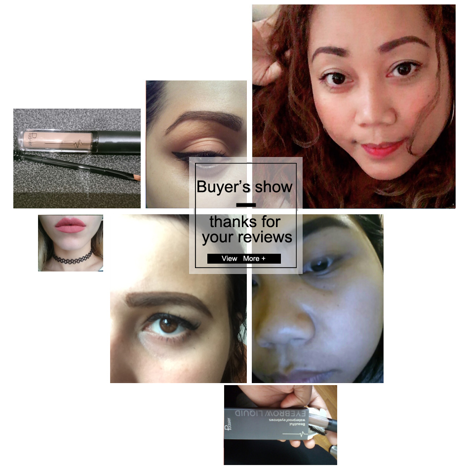 Pudaier Eyebrow Tint Makeup Pomade Brush Kit Brown Eye Brow Gel