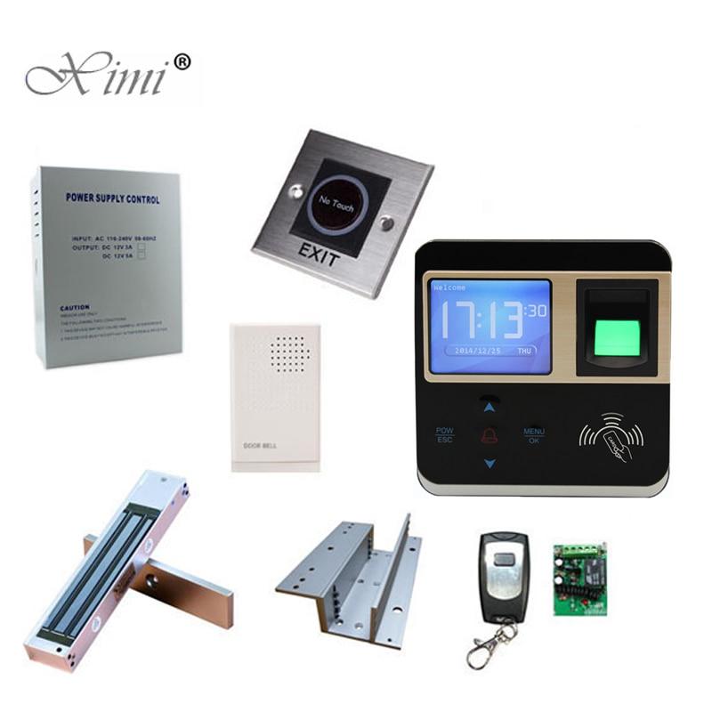 Logiciel gratuit tcp/ip 3000 capacité de la carte autonome contrôle d'accès par empreinte digitale serrure de porte bricolage F211 système de contrôle d'accès par carte RFID