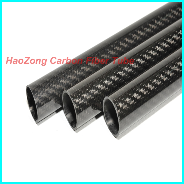 500mm long 3K Carbon Fiber Tube 19mm 20mm 22mm Carbon fiber Wing tube / Tail tiub / Tail boom 3K Glossy Finish