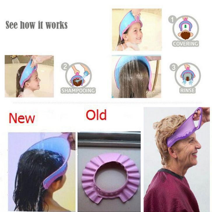UNIKIDS New Kids Bath Visor Hat,Adjustable Baby Shower Cap Protect Shampoo,  Hair Wash Shield For Children Infant Splashguard Wat In Shampoo Cap From  Mother ...