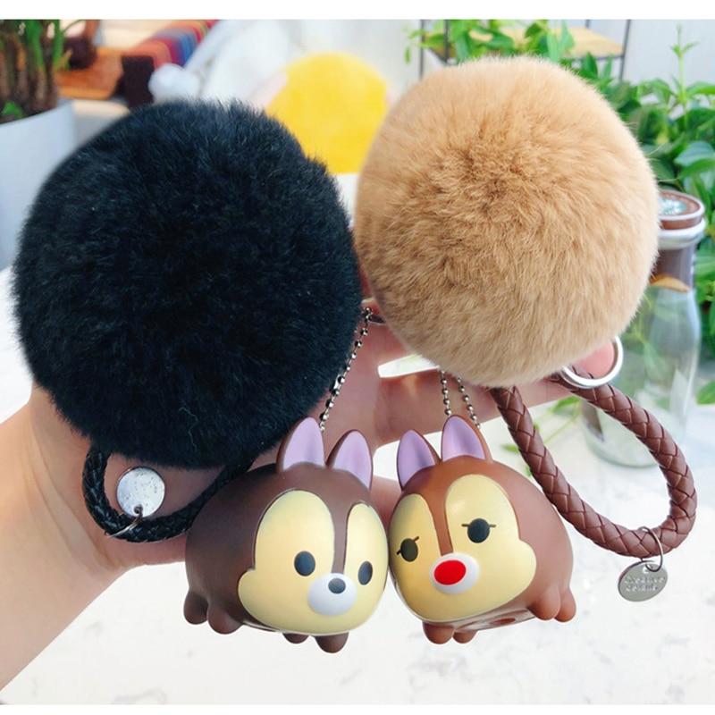 Cute didi music doll keychain cartoon Chicken Duck Dog Keyring couple bag woven key chain car accessories pendant