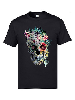 Voodoo Flower Skull Short Sleeve Casual Top