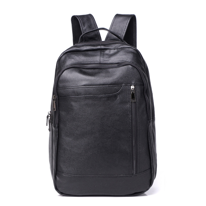 New mens leather large-capacity waterproof breathable wear-resistant backpacks cool cool business travel backpack vertical squaNew mens leather large-capacity waterproof breathable wear-resistant backpacks cool cool business travel backpack vertical squa