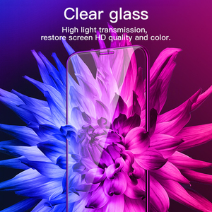 Image 4 - Hoco para apple iphone x xsmax xr hd cheio de filme vidro temperado protetor de tela cola protetora 3d cobertura completa proteção da tela