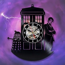Doctor Who Vinyl Wall Clock Art Gift Room Modern Home Record Vintage Decoration