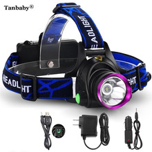 Tanbaby 2000 LM LED Headlamp CREE XM-L XML T6 Headlight Head Torch Camping Lighting Spotlight Hunting +AC Charger+ car charger