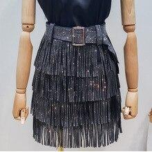 Lanmrem Mùa Hè 2020 Mới Quần Áo Thời Trang Cho Nữ Hot Khoan Tua Rua Paillette Váy Dây Bán Cho Nam Nữ Đáy YG97