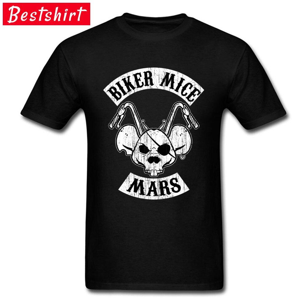 Biker Mice Mars Skull Rider T Shirt Pirates Mouse Motorcycle Cool Tshirts Black Mens Streetwear Skull T-Shirts 3D