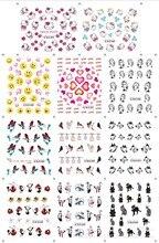 11 PCS/Lot Bird/Smiley/Heart Design DIY Nail Stickers Wraps Retro Animal Cat Water Decals Nails Decor Series Art Decoration