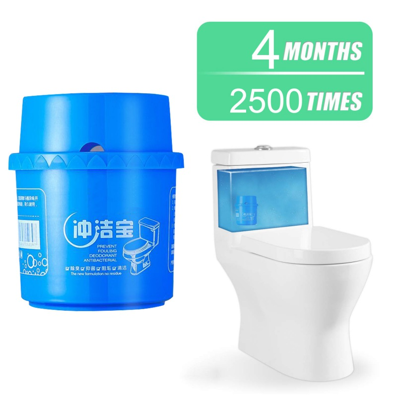 Automatic Toilet Cleaner Household Bacteria Cleaning Tool Ceramic Tile Stain Remover for Home Bedroom Cleaner 2500 Times Flushes in Toilet Cleaner from Home Garden