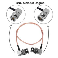 10 Pcs BNC Male to Male RightAngle RG179 Coax cable Plug to Plug connector for BMCC Video Blackmagic Camera SDI Camera Camcorder