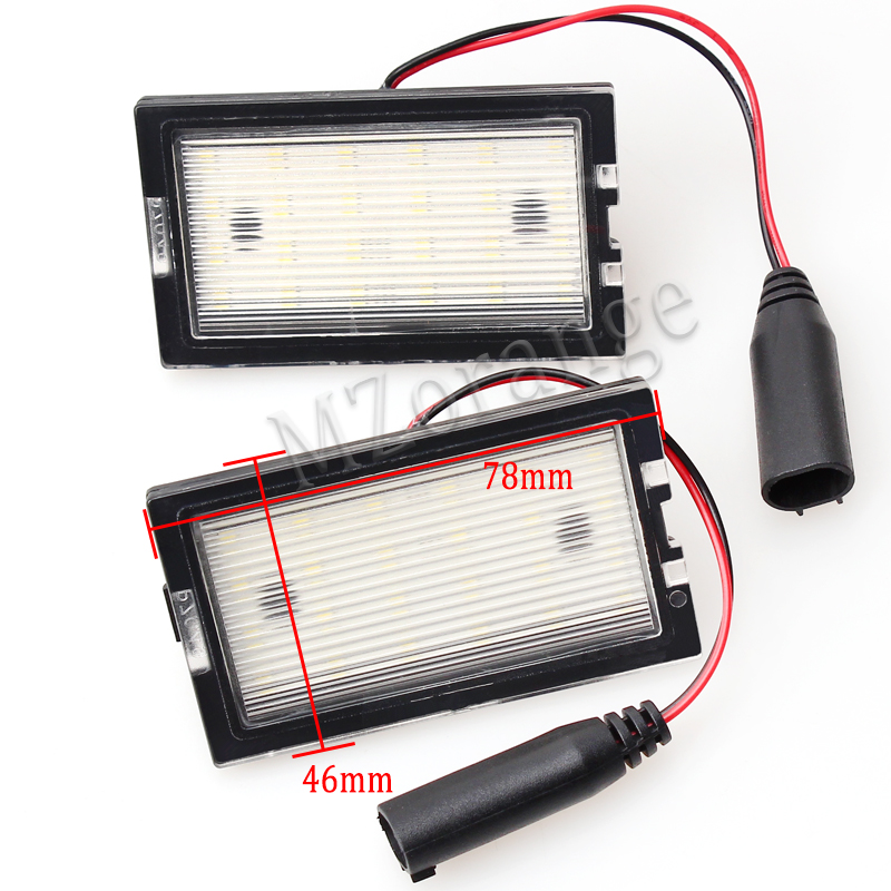 1 Pair No error LED number plate light for Land Rover Freelander 2 New Car White Led License Plate Light Lamp direct fit for kia sportage 11 15 led number license plate light lamps 18 smd high quality canbus no error car lights lamp page 4