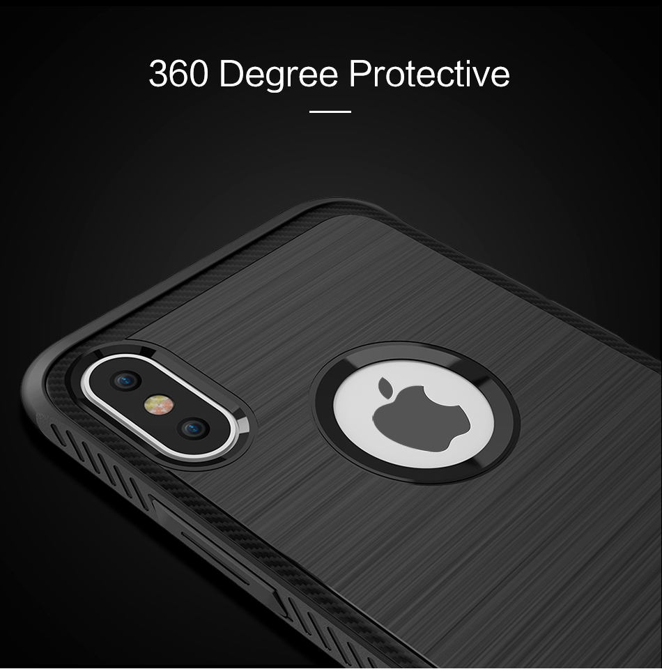 Luxury Shatterproof Cover For iPhone8 Phone Case Soft TPU Edge Hard PC i8 i 8 Case For Apple iPhone 8 Protective Accessories (3)