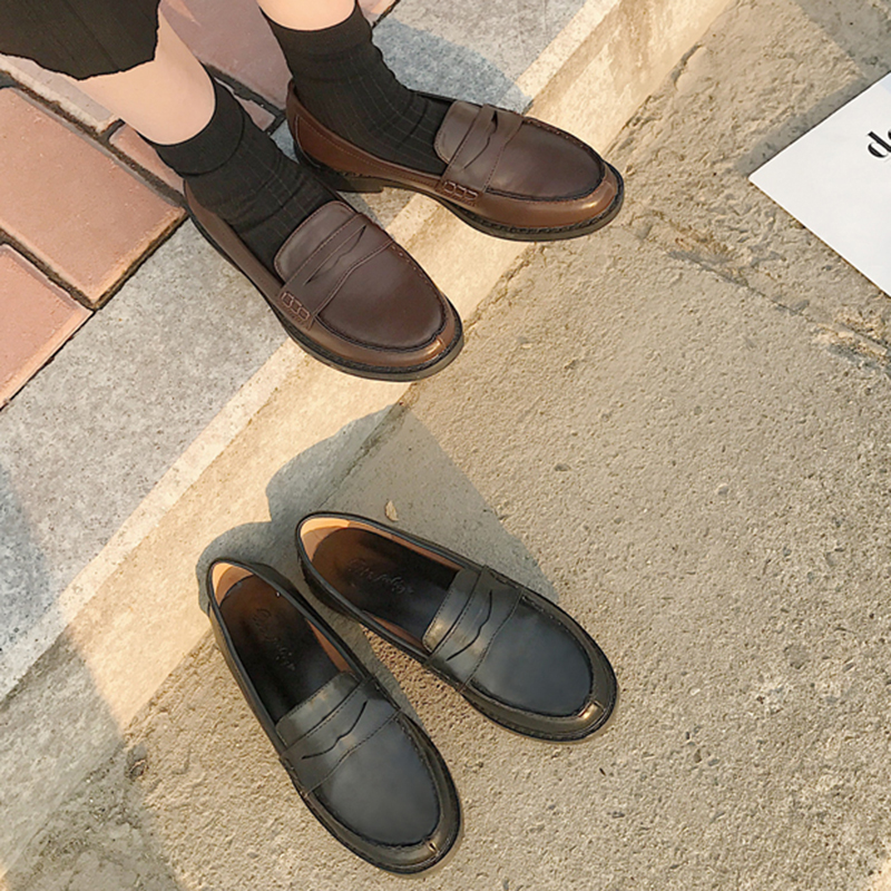 Japanese Student Shoes College Girl Shoes JK Commuter Uniform Shoes Cospaly Shoes Block Heels Loafers Shoes