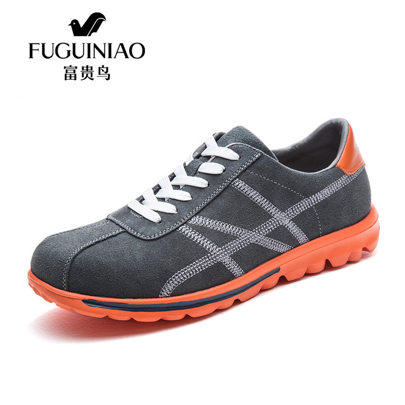 ФОТО 2017 NO5 sport running shoes Original Fuguiniao Genuine Leather Sport Running Shoes for Men outdoor sport Sneakers
