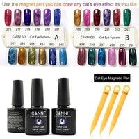 CANNI Magnetic Pen Cat Eyes Gel Varnish 51023 Nail Salon Tips Manicure Magnet Tool 24 Magic Color Change Cat Eye Gel Nail Polish