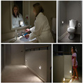 Novo quarto do bebê À Prova de Intempéries De Parede Sensor De luz Da Noite LEVOU cabeceira do diodo emissor de Luz da lâmpada a pilhas 12 v luz noturna higiênico luz