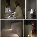 Nuevo room bebé Impermeable de Pared Sensor De luz LED lámpara de Luz Nocturna batería powered noche led 12 v luz de noche wc luz