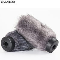 CAENBOO 16cm Outdoor Furry Fur Cover Windscreen Windshield Muff Microphone Deadcat Wind shields For Audio Technica AT879 Mic