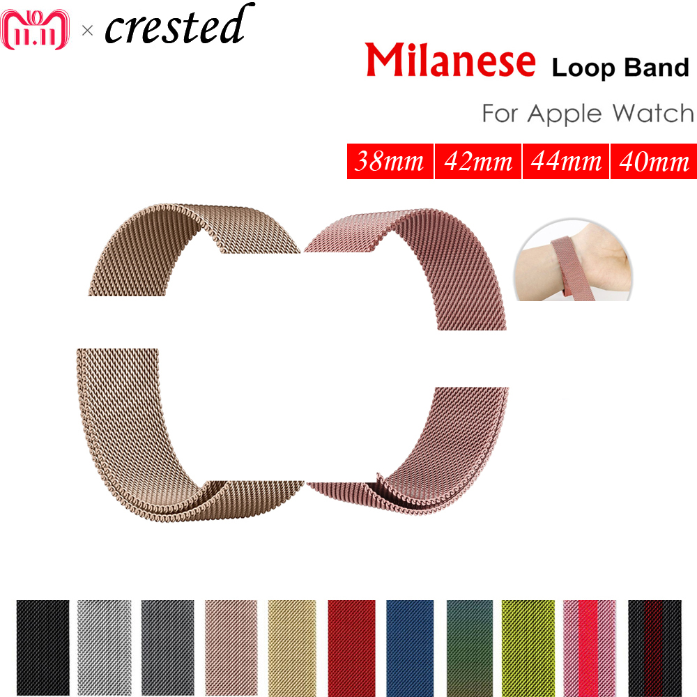 Milanese loop strap for apple watch band 42mm/38/44mm/40 Stainless Steel metal Bracelet watchband for iwatch 4/3/2/1 Accessories so buy for apple watch series 3 2 1 watchbands 38mm belt 42mm stainless steel bracelet milanese loop strap for iwatch metal band