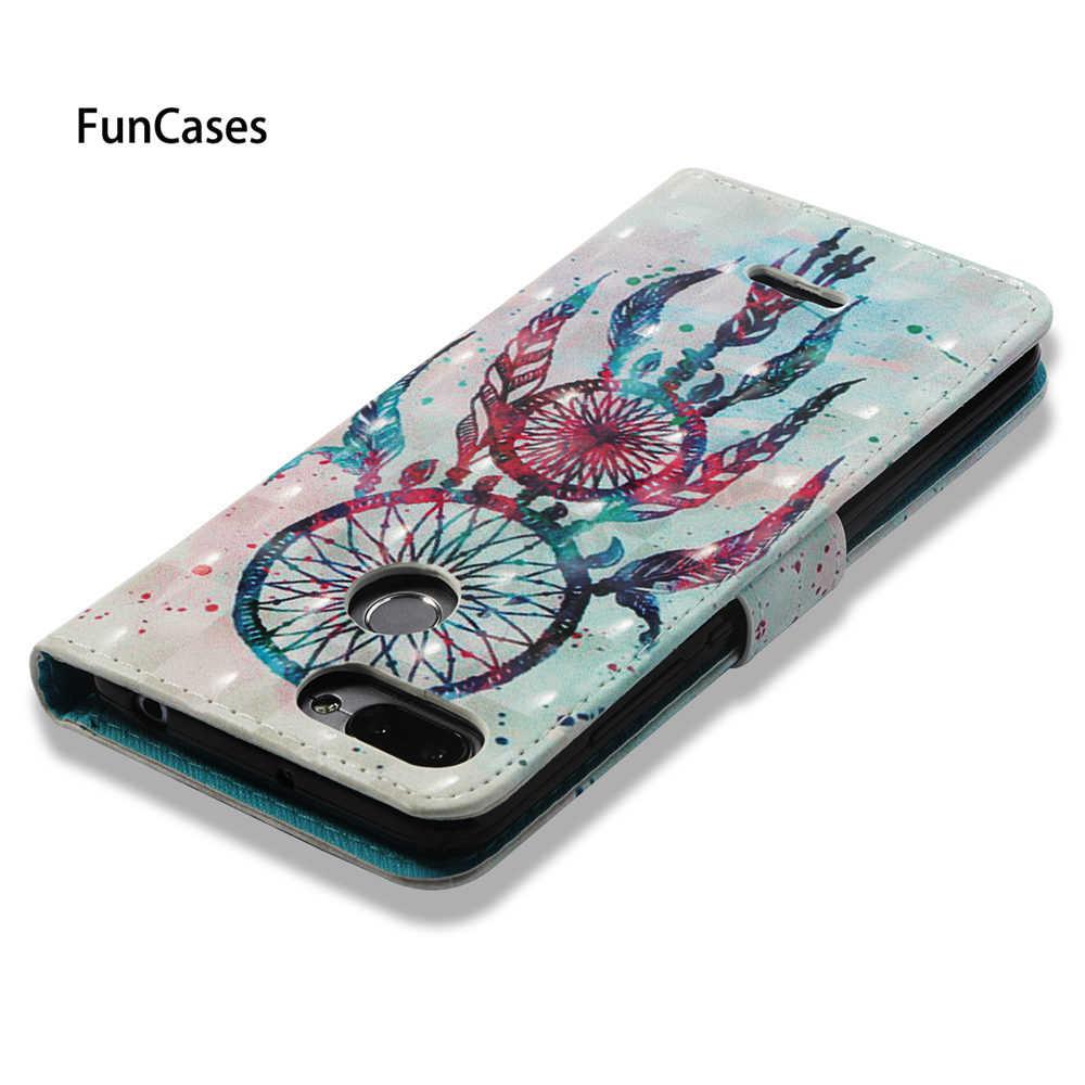Case untuk Xiaomi Redmi 6 Redmi6 Flip Case Telepon Penutup Kulit untuk Xiaomi Redmi 6A A6 Redmi6A Dompet Lukisan Telepon bag Housing