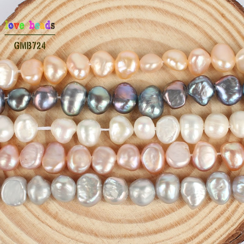 """Wholesale 5 brins 6-7 mm WHITE FRESHWATER PEARL Round Loose Bead 15/"""""""