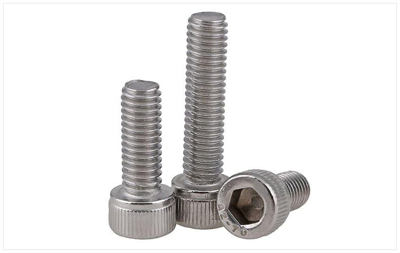 DIN912 304 stainless steel screws hex socket screws reverse thread left left teeth M6 M8 M10 M12 screws twill cylindrical head titanium screws m4x20 din 912 hex 3 0 driver polished
