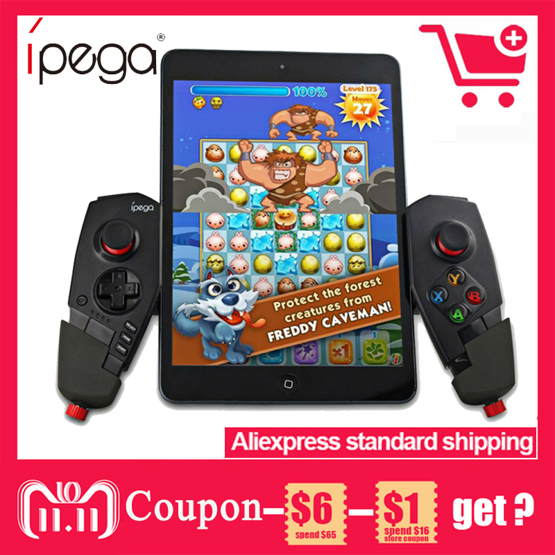 iPega PG-9055 PG 9055 Wireless Bluetooth Game Controller Joystick Gamepad with Bracket for iOS ipad Android Smart Phone TV Box цены онлайн