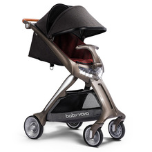Baby stroller 2019 new simple installation 80cm high landscape can sit can lie down simple folding portable LED light stroller цена 2017
