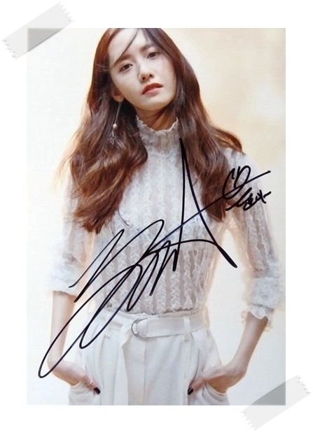 SNSD Yoona  autographed signed original photo 4*6 inches collection new korean  freeshipping 03.2017 01 hamlet