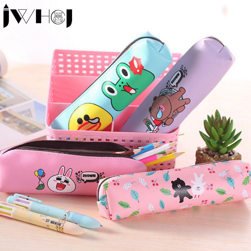 1 pcs sedikit pensil hewan, Pu kulit tas pensil untuk gadis alat tulis, Estojo escolar perlengkapan sekolah hadiah alat tulis