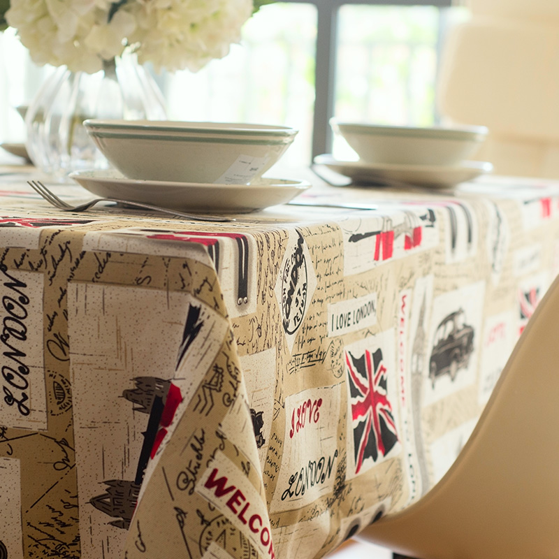 100% Cotton Table Cloth Hot Sale High Quality From China England Style Table  Linen Tablecloths Ancient Craft Easy To Wash