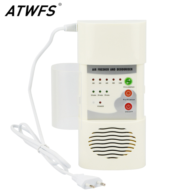 ATWFS Air Ozonizer Air Purifier Home Deodorizer Ozone Ionizer Generator Sterilization Germicidal Filter Disinfection Clean Room air ozone air purifier for home deodorizer negative ion generator sterilization germicidal filter disinfection clean room