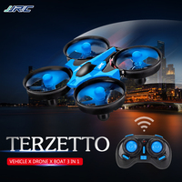 JJRC H36F 3 in 1 Mini Drone 3 Mode Air Water Ground Mode Altitude Hold Headless Mode Wireless RC Quadcopter RC Toy Best Kid Gift