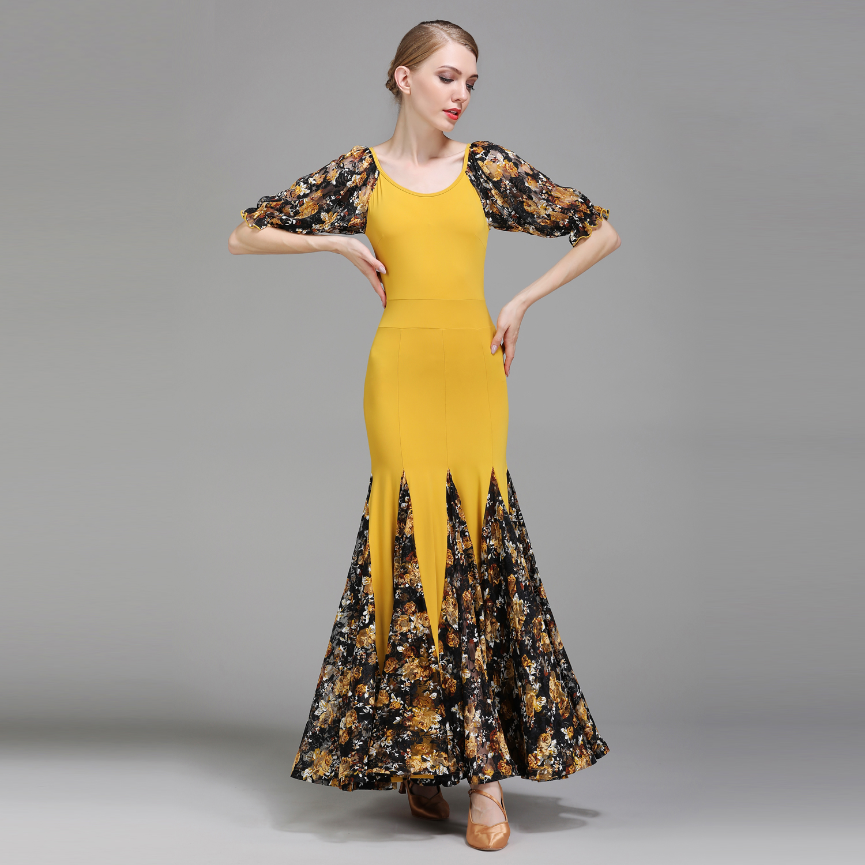 Здесь можно купить  Modern Dance Costume Women Ladies Adults Waltzing Tango Dancing Dress Ballroom Costume Evening Party Dress  Спорт и развлечения