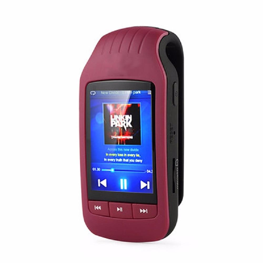 Bluetooth MP4 Player 8GB Sport Mini Clip HD MP4 Music Player Support Pedometer FM Radio Recording sd Card Slot 1.8 Inches 1037 цена