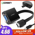 Ugreen HDMI a VGA adaptador para PS4 Pro Raspberry Pi 3 2 Chromebook TV HDMI Cable adaptador VGA con Audio jack de 3,5mm