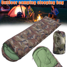 Sale High quality Cotton Camping sleeping bag,15~5degree, envelope style, army or Military camouflage bags