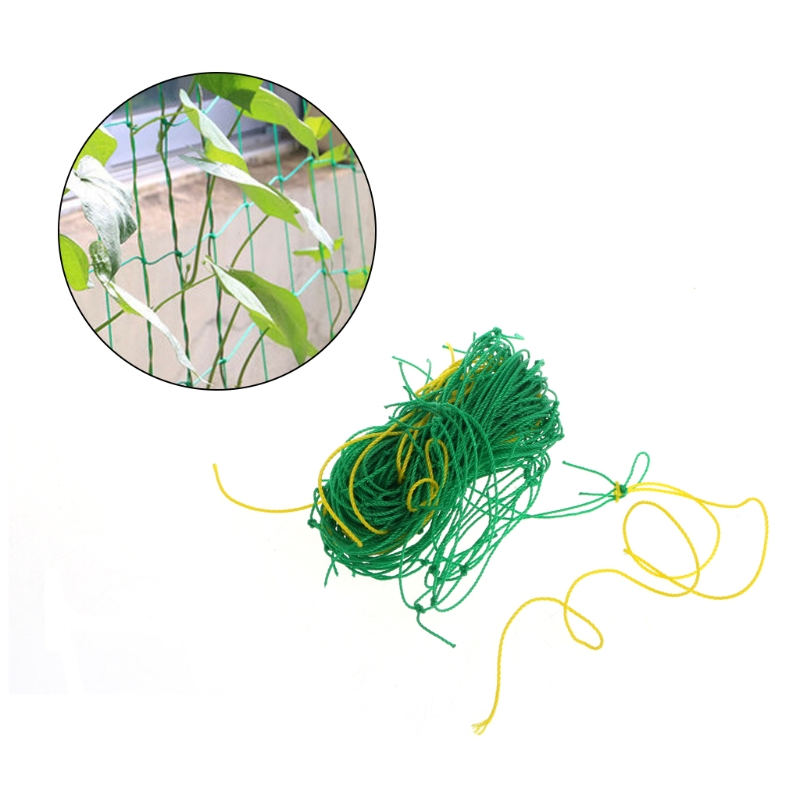 1PC Garden Green Nylon Trellis Netting Support Climbing Bean Plant Nets Grow Fence 0.9m*1.8m
