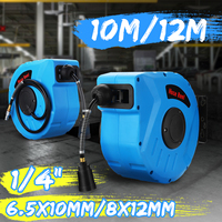 1/4inch air hose reel for home Auto retractable reel car washer Flexible Garden 10M/ 12M Air Hose Reel for Clean Dust