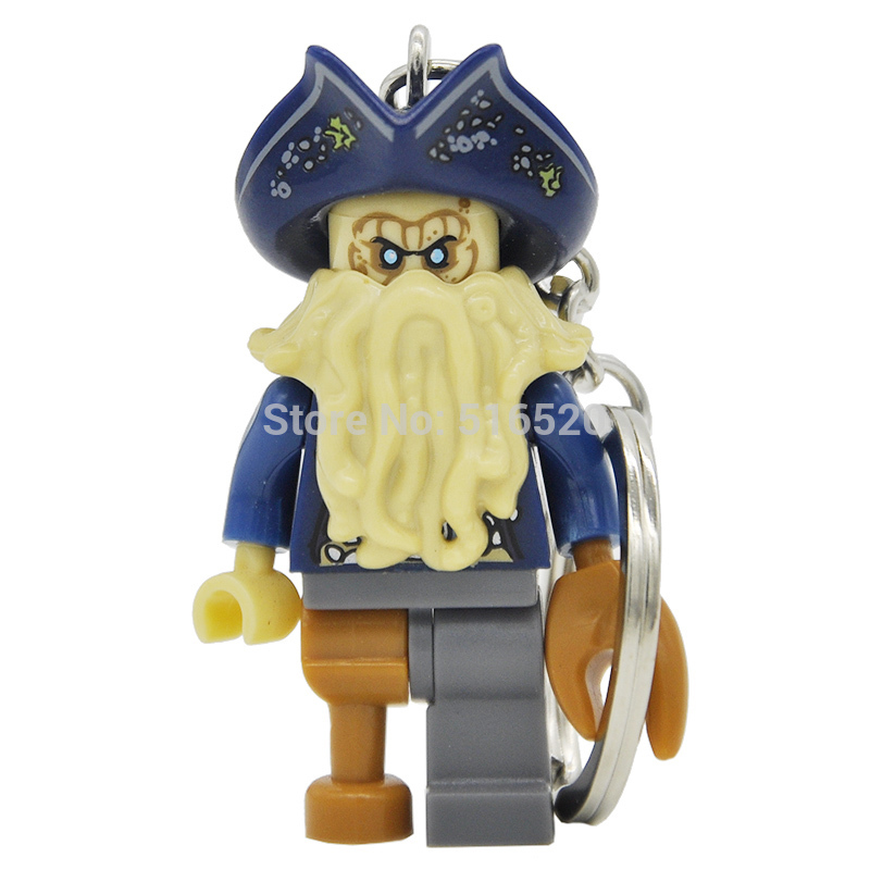 Pirates Of The Caribbean Jack Sparrow Figure Keychain Davy Jones