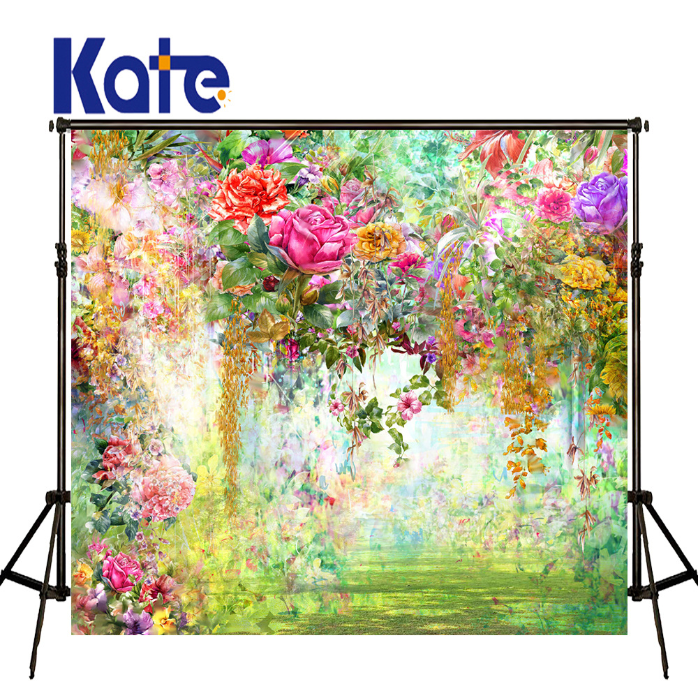 KATE Photo Background Valentine'S Day Backdrop Floral Background Backdrop Photography Background Oil Painting Nature Backdrops vinyl backdrop photography lovely painting of wildflowers newborn photography background cm s 110