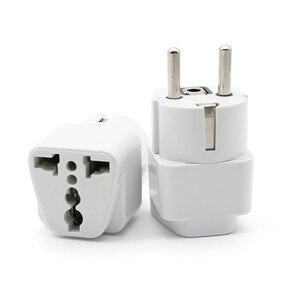 Image 5 - Adaptador de enchufe europeo de alta calidad, adaptador de corriente de viaje Universal para Cargador eléctrico, 1 unidad
