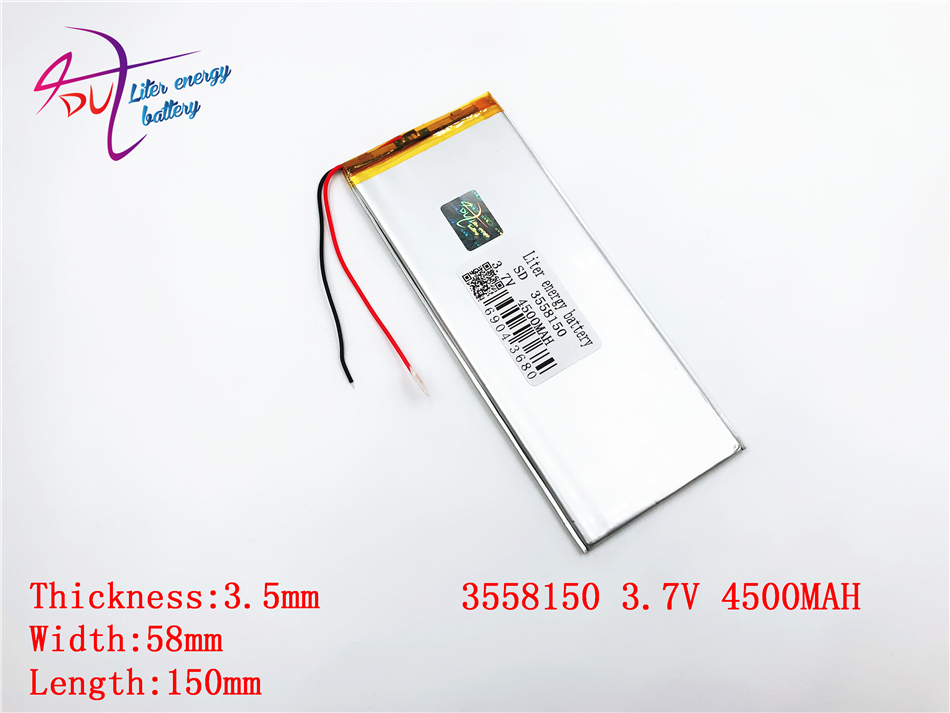 Unterhaltungselektronik Modestil 3,7 V 4500 Mah 3558150 3560150 Liter Energie Batterie Polymer Lithium-ionen Batterie Li-ion Batterie Für Tablet Pc 7 Zoll 8 Zoll Batterien