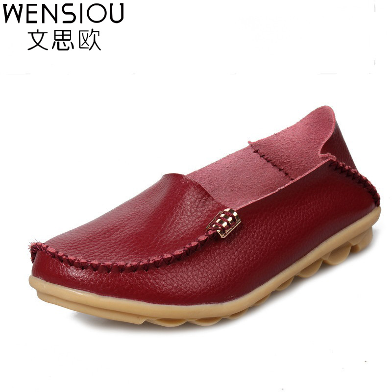 2017 Women leather shoes Fashion women's flats casual comfortable Loafers Soft Women shoes female footwear zapatos mujer SFT432 zapatillas hombre 2017 fashion comfortable soft loafers genuine leather shoes men flats breathable casual footwear 2533408w