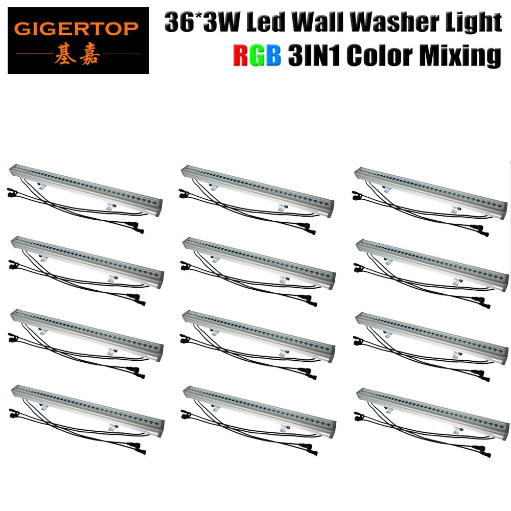 Wholesales 12Pcs/Lot 36x3W 3In1 Led Bar Light IP65 Outdoor Waterproof Led Washer Light DMX 512,RGB led wall washer stage light wholesales buil in led light refractometer zgra 100atc
