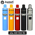 100% Original Joyetech eGo AIO D22 Quick Starter Kit 1500 mAh Batería Capacidad 2 ml e-líquido Capacidad BF MTL SS316-0.6ohm Atomizador